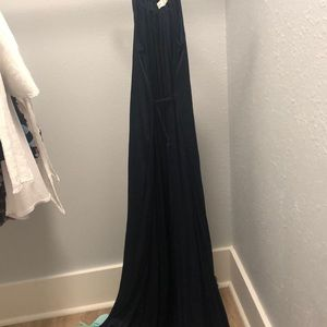 Abercrombie and Fitch navy silk dress